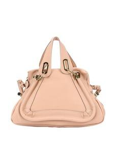 Chloe blush nude leather medium 'Paraty' convertible satchel