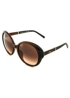 Chloe brown round 54mm sunglasses