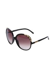 Chloe brown scalloped square 60mm sunglasses
