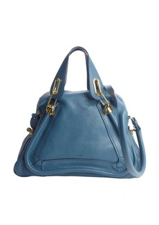 Chloe carribean blue leather 'Paraty' convertible satchel