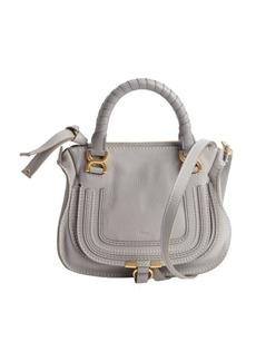 Chloe cashmere grey lambskin 'Marcie' mini crossbody bag