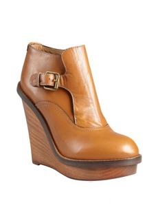 Chloe chestnut leather 'Kimberly' buckled ankle boots