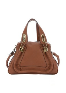 Chloe classic tobacco leather mini 'Paraty' convertible top handle bag