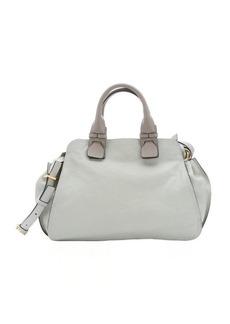Chloe cloudy grey lambskin 'Fynn' medium satchel bag