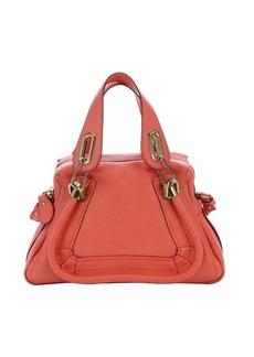 Chloe coral pop calfskin small 'Paraty' convertible top handle bag
