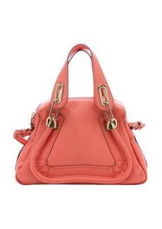 Chloe coral pop leather mini 'Paraty' convertible top handle bag