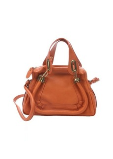 Chloe dark orange leather 'Paraty' small convertible bag