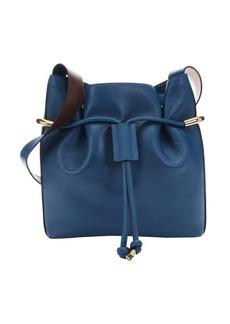 Chloe factory blue leather 'Emma' medium drawstring bucket bag