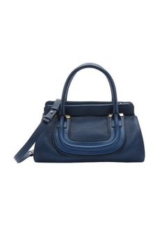 Chloe factory blue leather 'Everston' convertible doctor bag