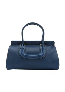 Chloe factory blue leather 'Everston' large tote
