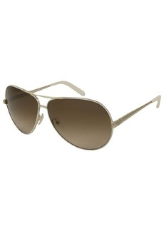 Chloe Gold and White Aviator Metal CE107S Sunglasses