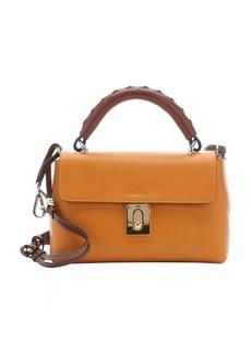 Chloe gold yellow calfskin 'Fedora' small convertible top handle bag