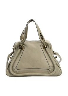 Chloe green calfskin medium 'Paraty' convertible satchel bag