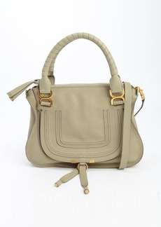 Chloe green leather 'Marcie' convertible top handle bag