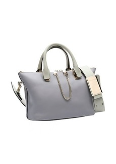 Chloe grey leather 'Baylee' convertible tote bag