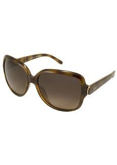 Chloe Havana Rectangular Plastic CE655S Sunglasses