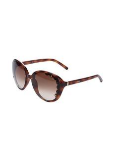 Chloe havana rounded scalloped lens 60mm sunglasses