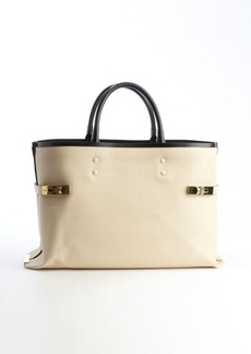 Chloe husky white calfskin 'Charlotte' large tote bag