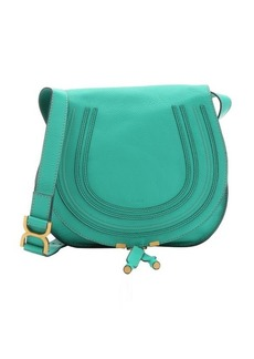 Chloe jade green leather 'Marcie' medium crossbody bag