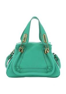 Chloe jade green leather mini 'Paraty' convertible top handle bag