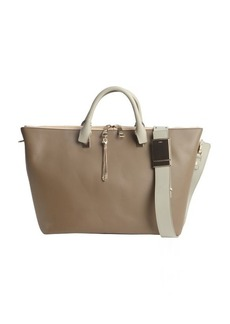 Chloe khaki leather 'Baylee' convertible tote