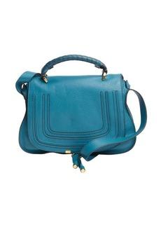 Chloe laguna blue leather stitched detail 'Marcie' bag