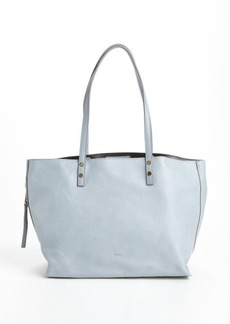 Chloe light blue leather large 'Dilan' tote bag