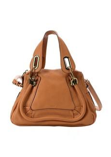 Chloe light brown calfskin small 'Paraty' convertible top handle bag