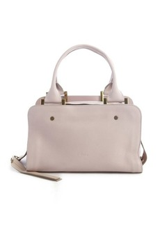 Chloe lilac and beige leather triple top zip 'Dalston Trunk' bag