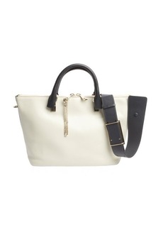 Chloe marshmallow grey leather 'Baylee' convertible tote