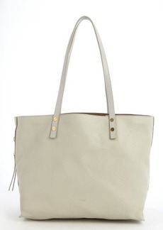 Chloe marshmallow grey leather large 'Dilan' tote bag
