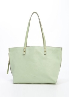 Chloe mint leather large 'Dilan' tote bag