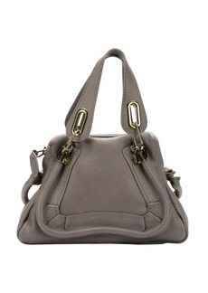 Chloe motty grey calfskin small 'Paraty' convertible top handle bag