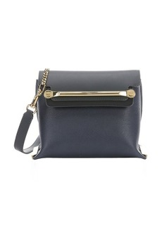 Chloe navy and black leather small 'Clare' convertible shoulder bag