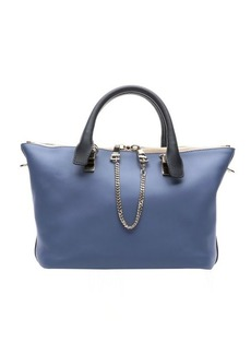 Chloe navy blue leather 'Baylee' convertible tote bag