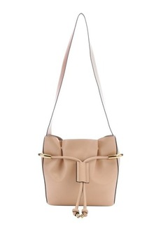 Chloe nude leather 'Emma' medium drawstring bucket bag