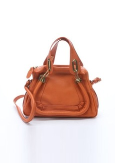 Chloe orange leather 'Paraty' small convertible top handle bag