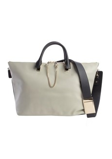 Chloe pale grey and black leather 'Baylee' convertible tote