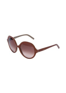Chloe peach round frame 55mm sunglasses