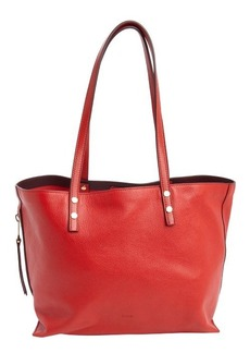 Chloe plaid red leather large 'Dilan' tote bag