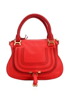 Chloe plaid red leather 'Marcie' convertible tote bag