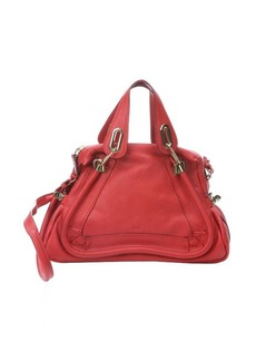 Chloe plaid red leather 'Paraty' convertible satchel