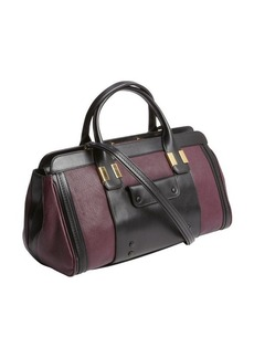 Chloe plum and black leather doctor bag