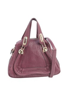 Chloe plum leather 'Paraty' small convertible top handle bag