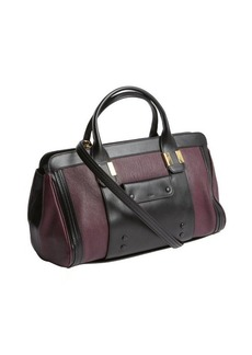 Chloe purple pansy leather convertible short doctor bag