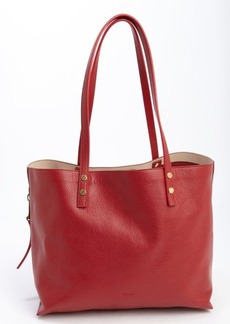 Chloe red leather large 'Dilan' tote bag