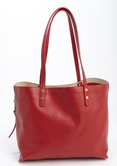 Chloe red leather large 'Dilan' tote bag