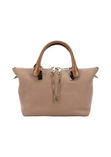 Chloe rope and beige calfskin 'Baylee' convertible tote bag