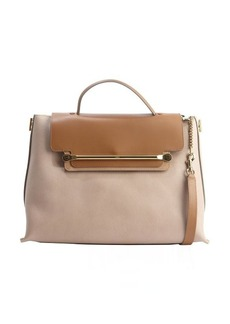 Chloe rope and beige leather 'Clare' convertible tote bag