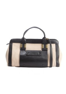 Chloe rope and beige leather convertible top handle bag